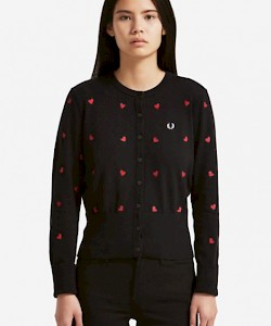 AMY WINEHOUSE Heart Embroidered Cardigan - SK5160