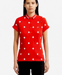 AMY WINEHOUSE Polka Dot Polo Shirt - SG1170